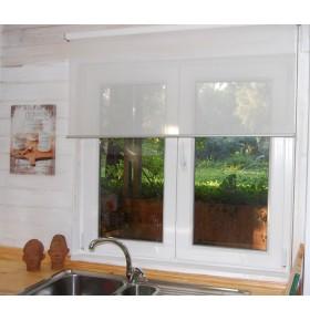 Janela Cando 2 folhas c/vidro duplo PVC 100x100cm