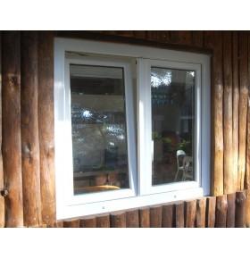 Janela PVC 100x110cm (L x A) Oscilobatente Vidro Duplo Cando 2 Folhas