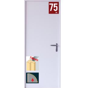 Kit porta esquerda branca 200x75cm com aduela p/gesso cartonado 74mm